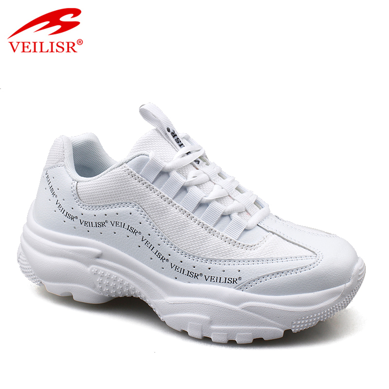 Outdoor PU mesh ladies sports casual shoes chunky women sneakers