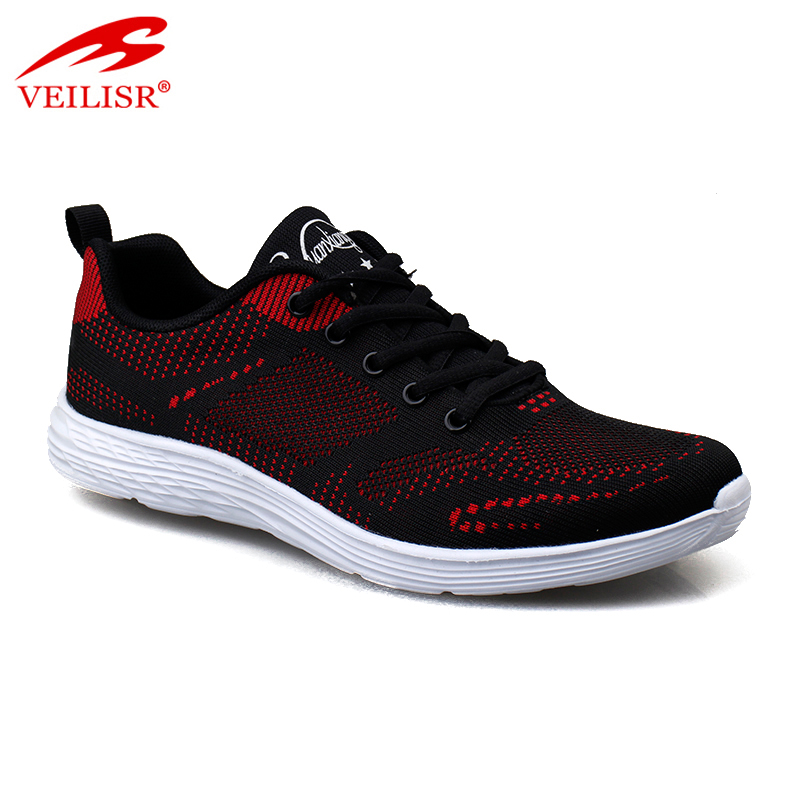 Outdoor fashion knit fabric light sneakers women sport shoes