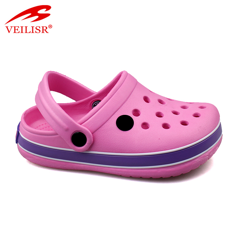 Outdoor summer beach simple children holey EVA sandals kids clogs