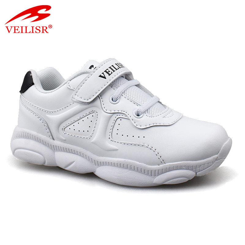 Outdoor fashion PU upper children school sneakers kids casual shoes