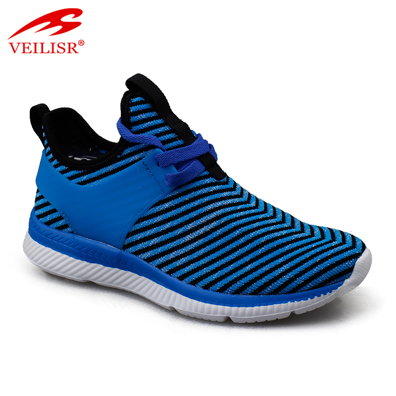 Zapatillas knit fabric ladies light sneakers women sport shoes