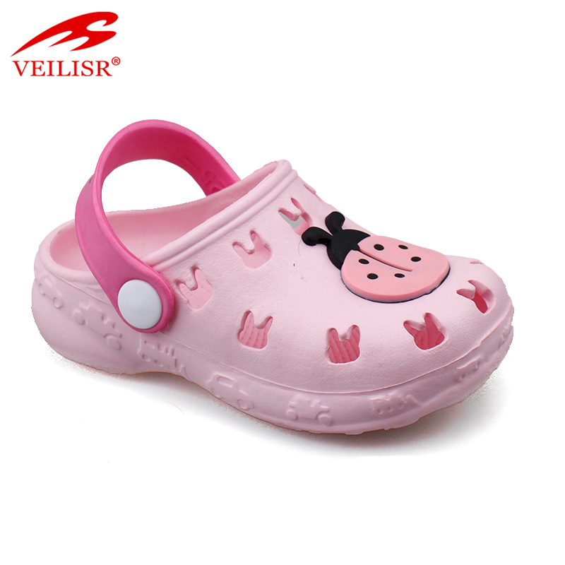 Outdoor summer beach carton style children EVA sandals kids clogs