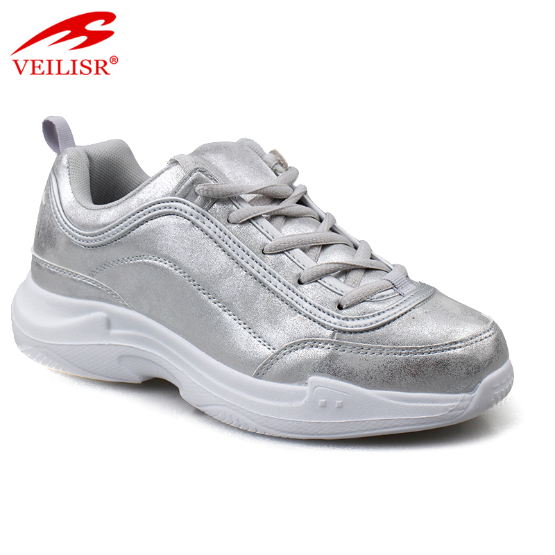 Outdoor fashion PU upper ladies sports casual shoes women sneakers