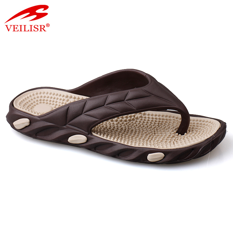New design summer beach thong slippers men massage flip flops