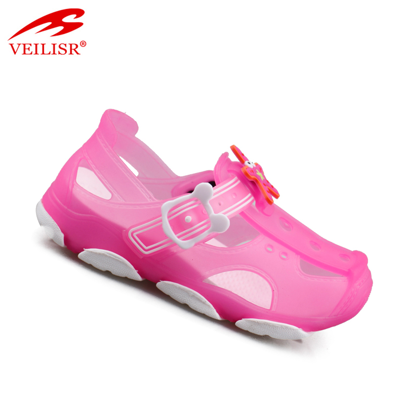 Outdoor summer beach jelly shoes children PVC sandals kids clogs