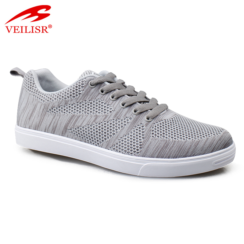 Outdoor fashion knit fabric upper sports casual shoes men sneakers