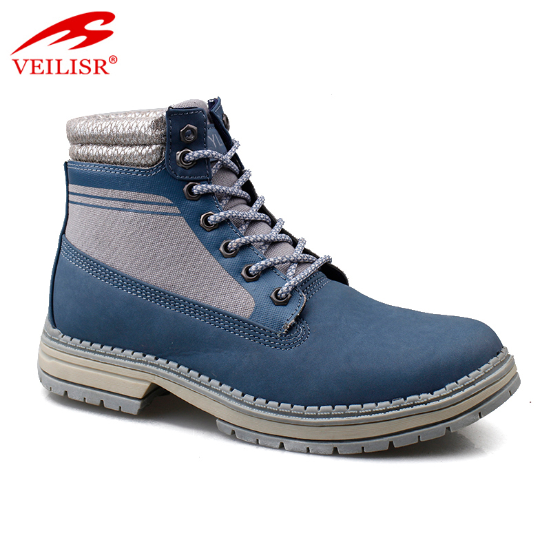 Outdoor faux leather ladies mid top casual shoes women winter boots