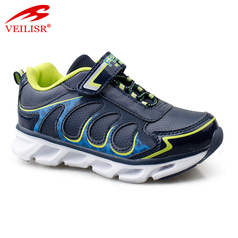 2020 sepatu Wholesale Low Price high quality Outdoor fashion PU children LED light sneakers kids casual shoes