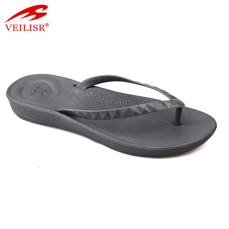 Hot sell blank PVC strap footwear beach women flip flops