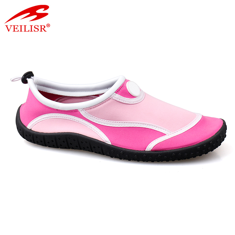 Stretch fabric women swim beach aqua water shoes