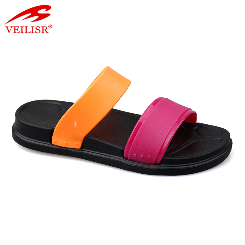 Wholesale summer PVC upper EVA sole slippers women slide sandals