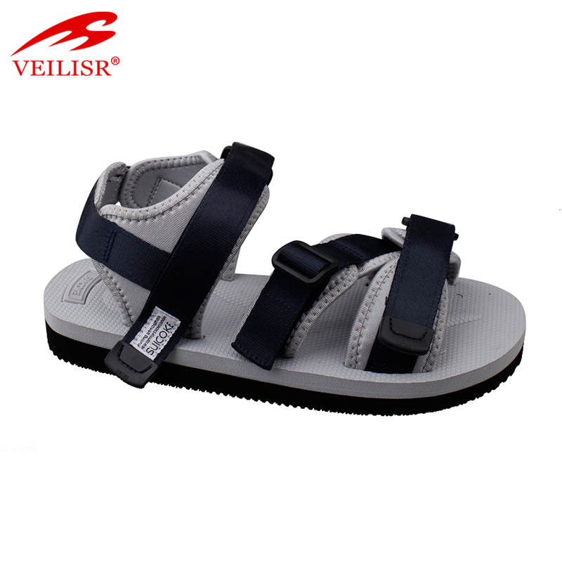 New arabic buckle design fabric strap footwear sport men sandals