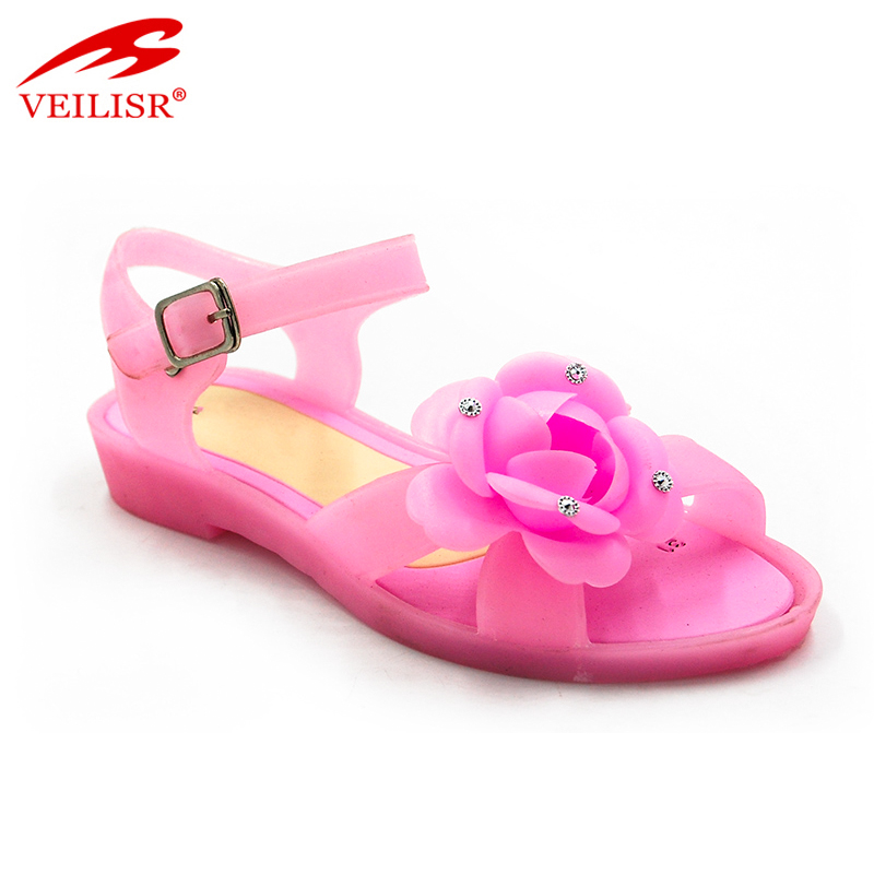 New summer ladies flat sandalias PVC jelly shoes women sandals