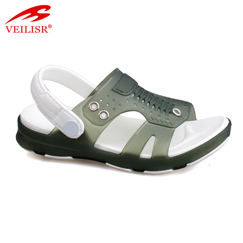 Outdoor summer beach children clear PVC jelly shoes kids sandals