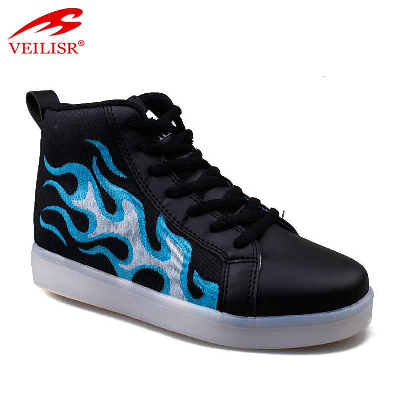 2020 Sepatu China Factory direct Wholesale Cheap New design PU upper children casual sneakers kids led light shoes