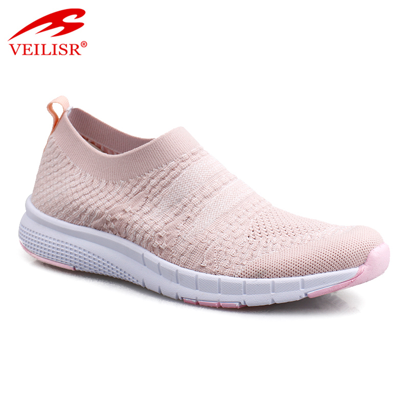 Latest Typical Style Top quality New pink size 36-41 knit fabric slip on fashion yeezy sneakers women casual sport shoes