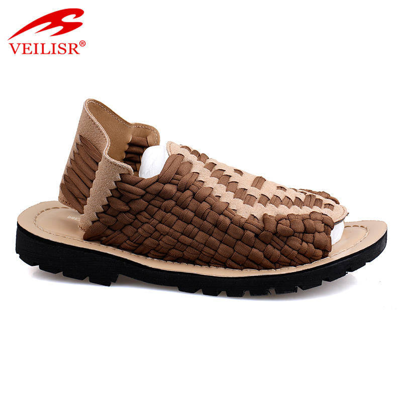 New design women fancy footwear knitted pattern sandals