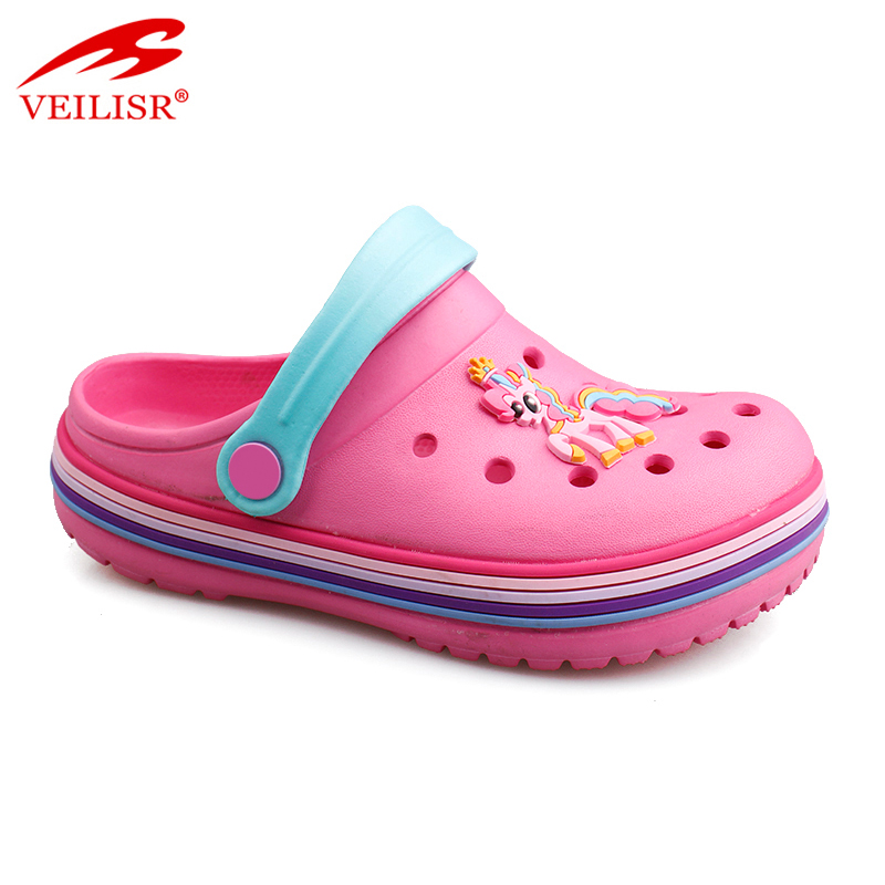 Latest design oem odm Personalized Cute Outdoor summer beach carton style children EVA sandals kids garden clogs