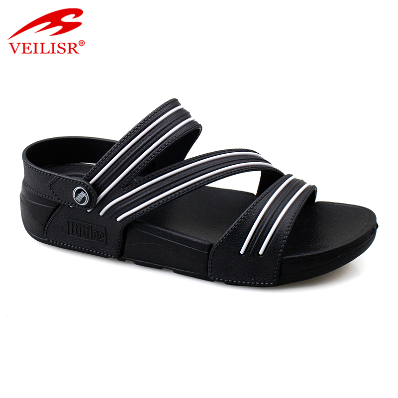 Outdoor summer PVC upper EVA sole ladies footwear women sandals