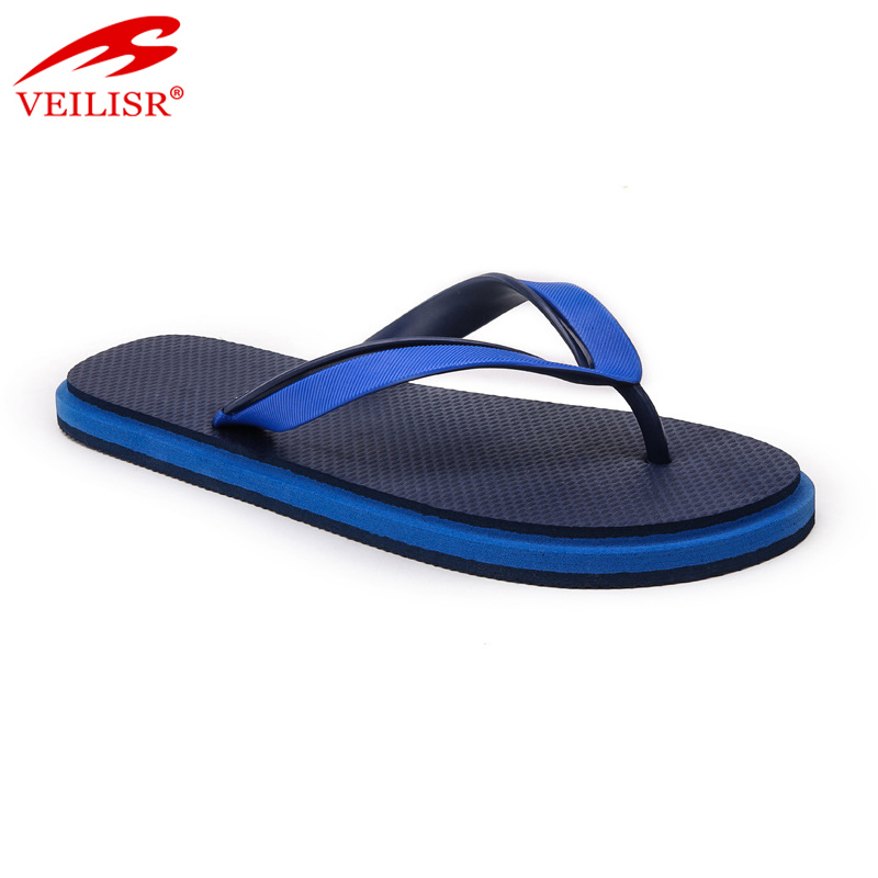 Outdoor summer PVC strap slippers men beach flip flops