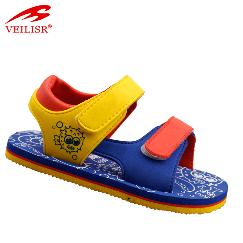 Outdoor suede upper EVA sole cute children footwear kids sandals