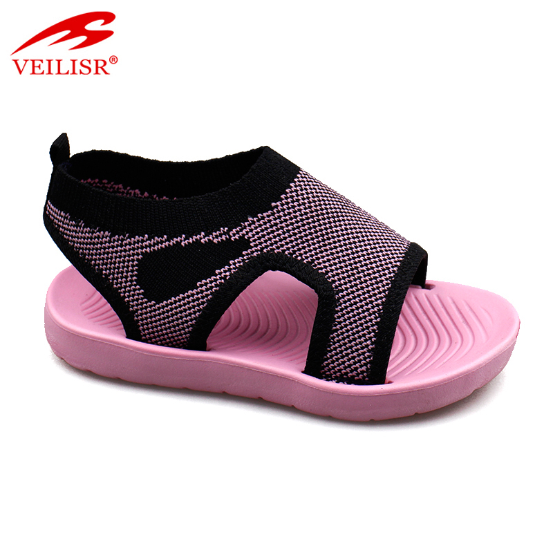 Sandalias outdoor summer knit fabric children sandale kids sandals