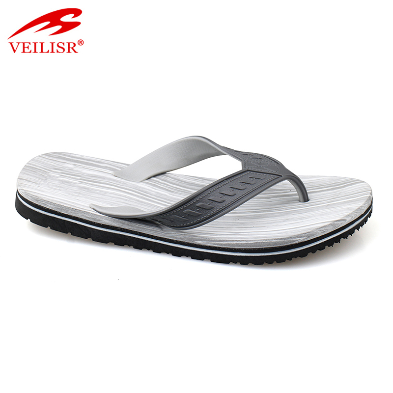 South africa PVC footwear men custom beach flip flops