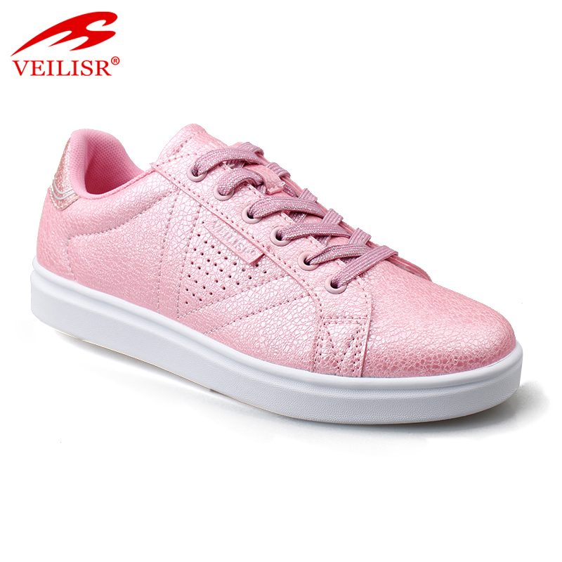New design PU upper fashion ladies sneakers women casual shoes