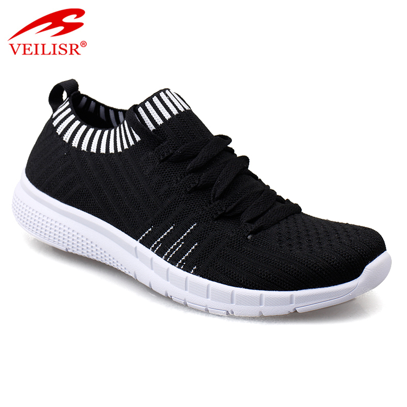 2020 Wholesale Factory low price OEM New design knit fabric unisex fashion sneakers women casual sport shoes Featured Image