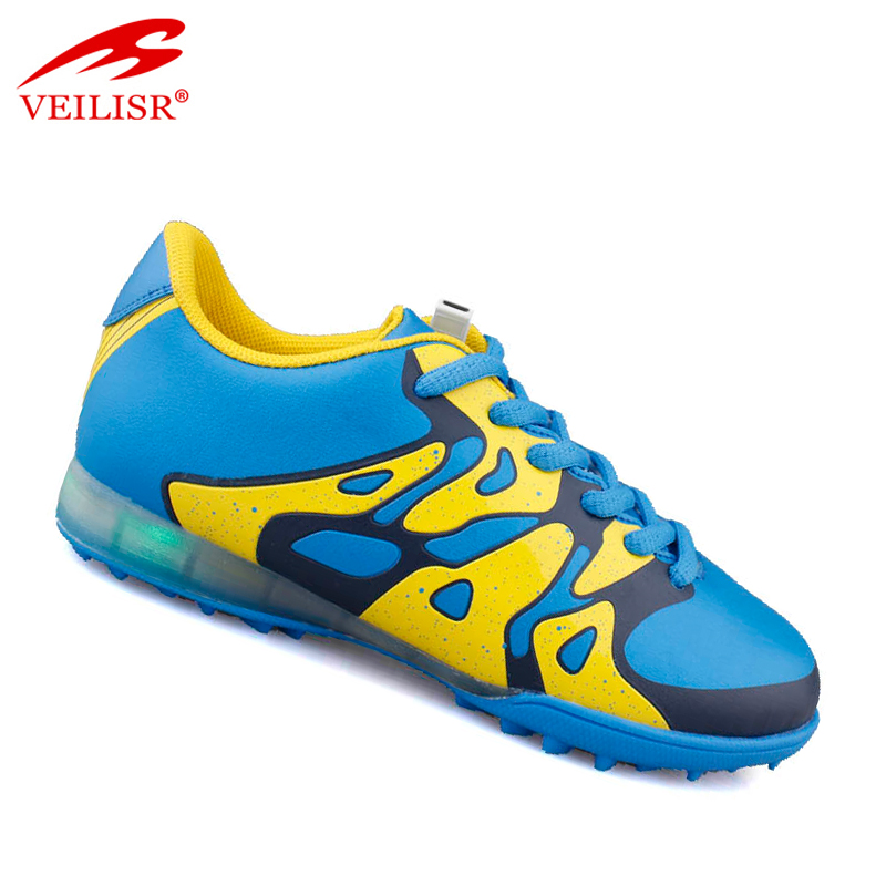 Zapatos de futbol soccer boots kids LED light football shoes