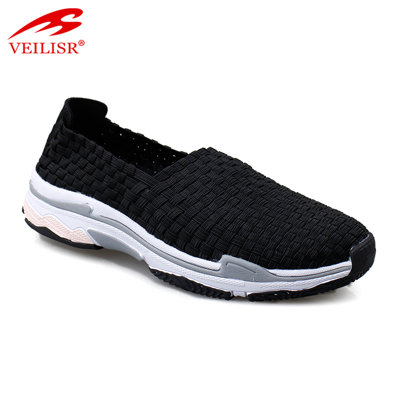Zapatos mujer ladies slip on footwear woven casual women shoes