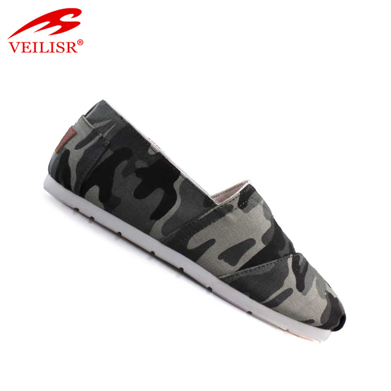 Most popular flat slip on footwear men casual canvas shoes