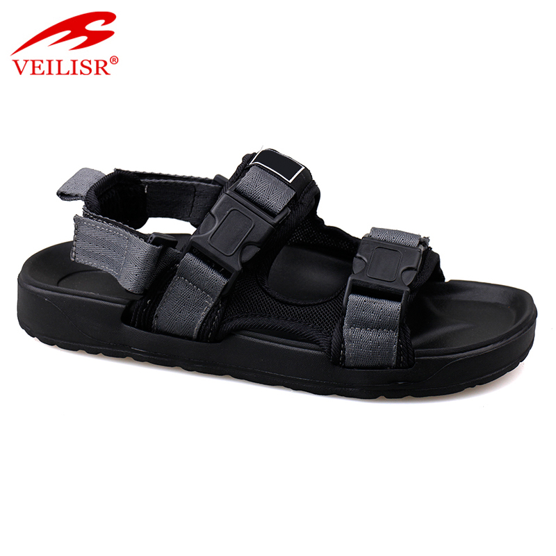 Outdoor buckle design fabric tape hiking footwear sports men sandals