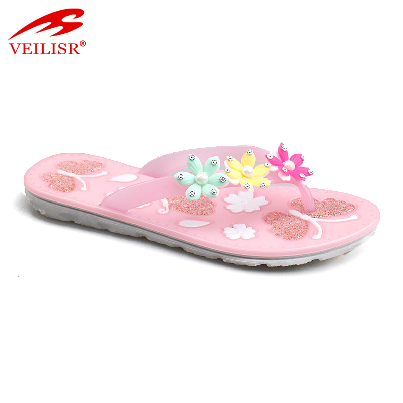 Outdoor colorful summer beach ladies PVC slippers women flip flops