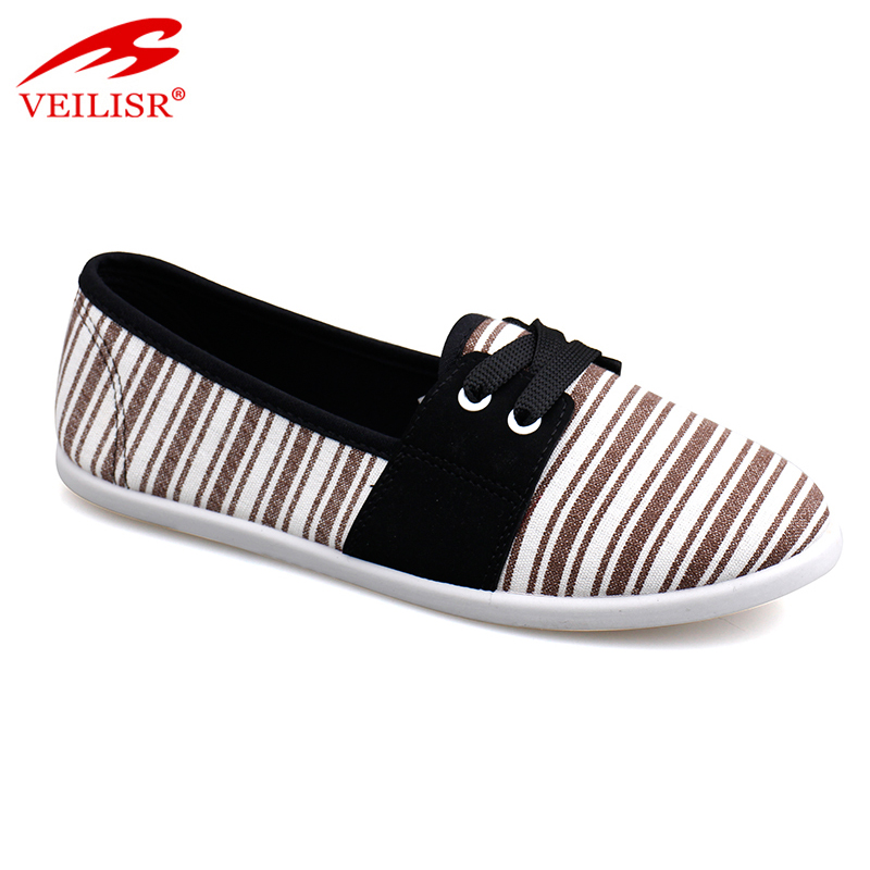 New outdoor ladies slip on flat casual women canvas shoes