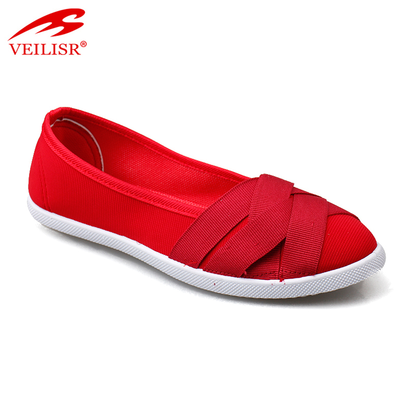 New ladies slip on flats casual canvas shoes for woman