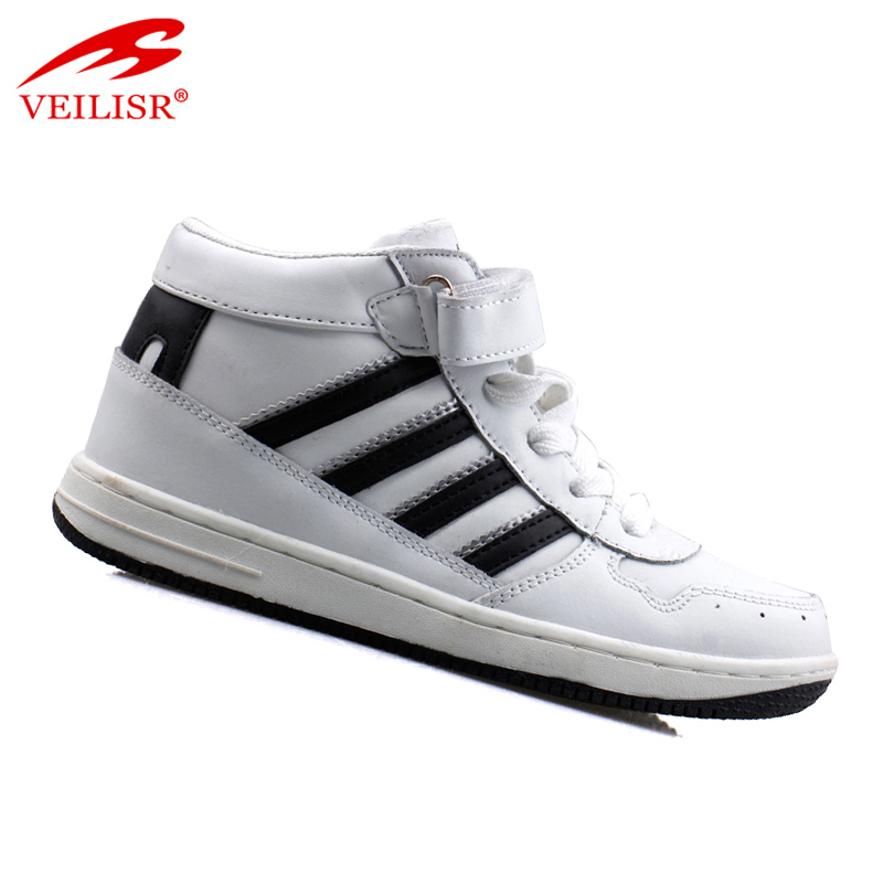 Zapatillas buckle design PU men sneakers cheap basketball shoes