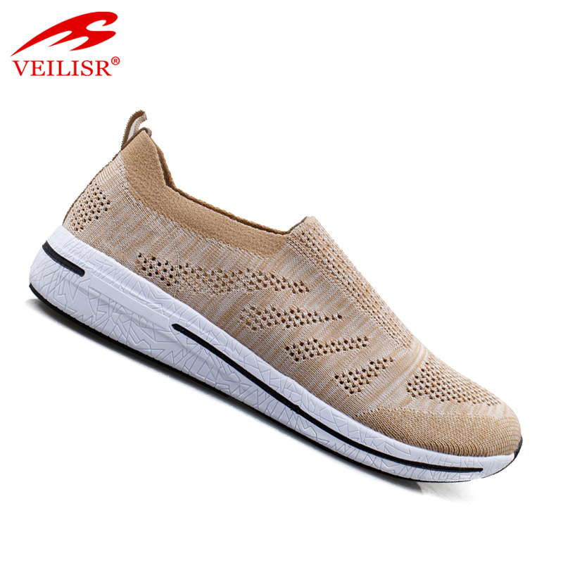 Most popular fly knit mesh fabric men casual sport shoes fashion walking sneakers