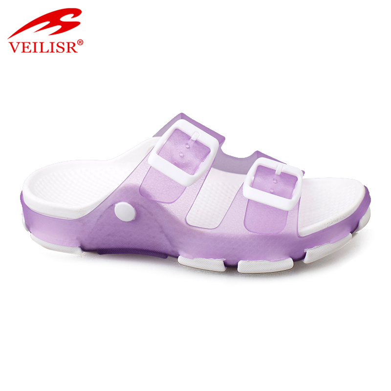 Most popular buckle design jelly PVC beach footwear kids LED light sandals