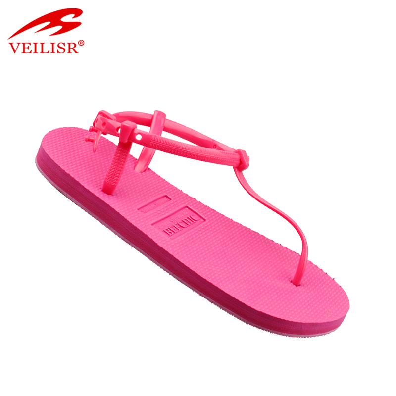New design summer beach ladies jelly PVC flat sandals