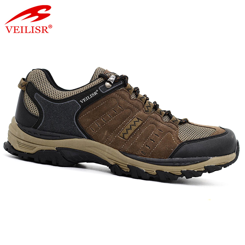 outdoor quality trekking sneakers leather men hiking shoes