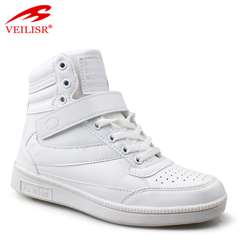 Wholesale PU upper high top fashion casual sneakers shoes men boots