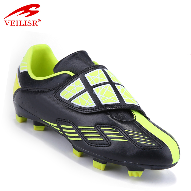 Zapatos de futbol children PU football boots kids soccer shoes