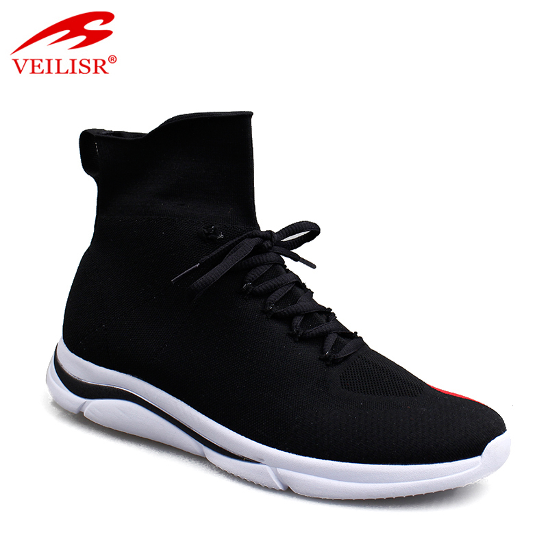 Outdoor knit fabric fashion casual sport shoes men sock sneakers