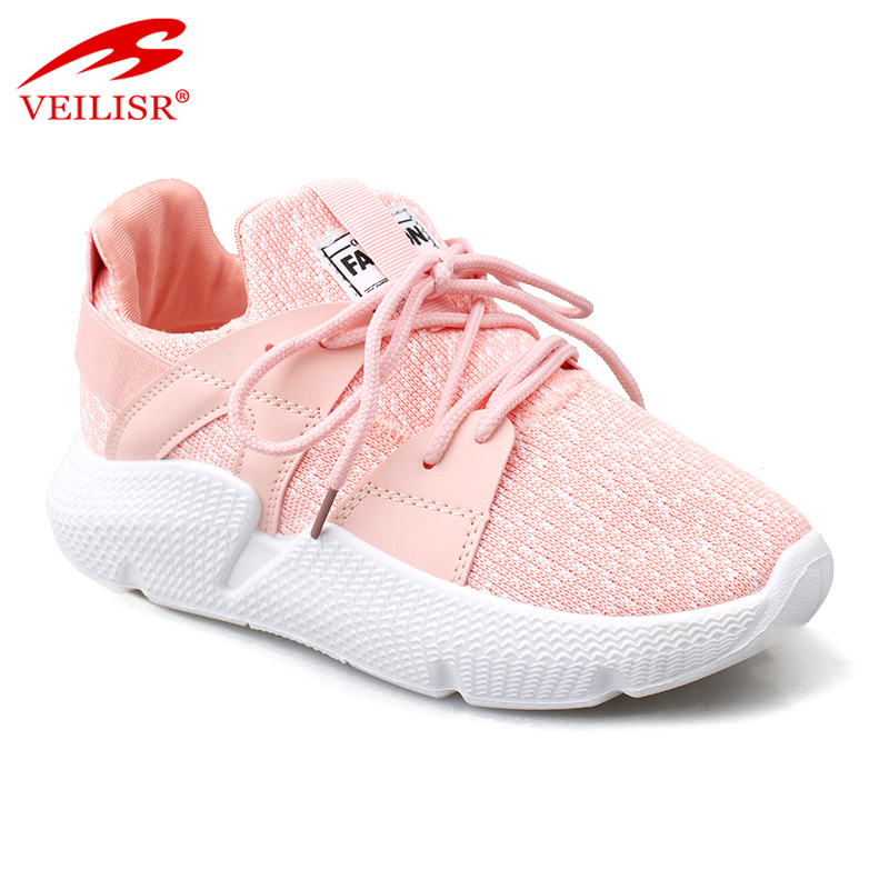New design fly knit mesh fabric fashion women running sport shoes casual sneakers