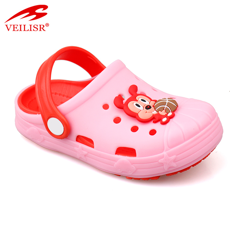 New eva sole animal style sandals kids clear plastic clogs Featured Image
