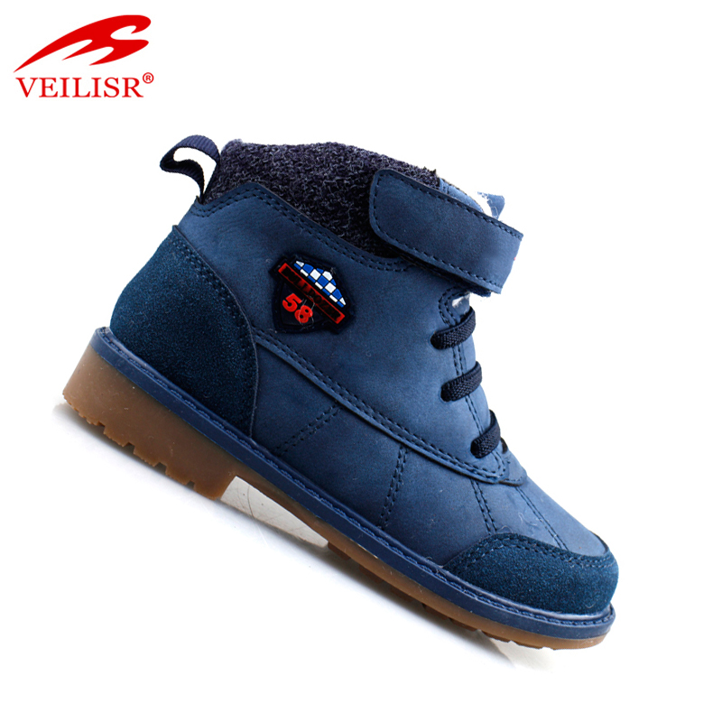 Wholesale China Factory Low Price Custom Comfortable High quality winter warm suede leather footwear kids casual boots