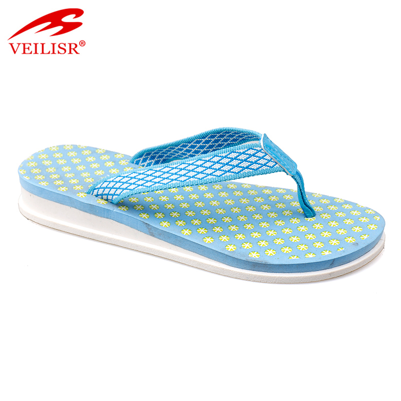 Summer fabric strap footwear women fancy wedge flip flops