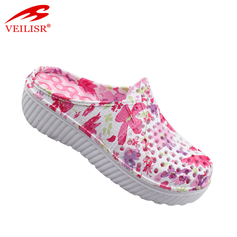 Outdoor summer massage wedge EVA sandals women clogs