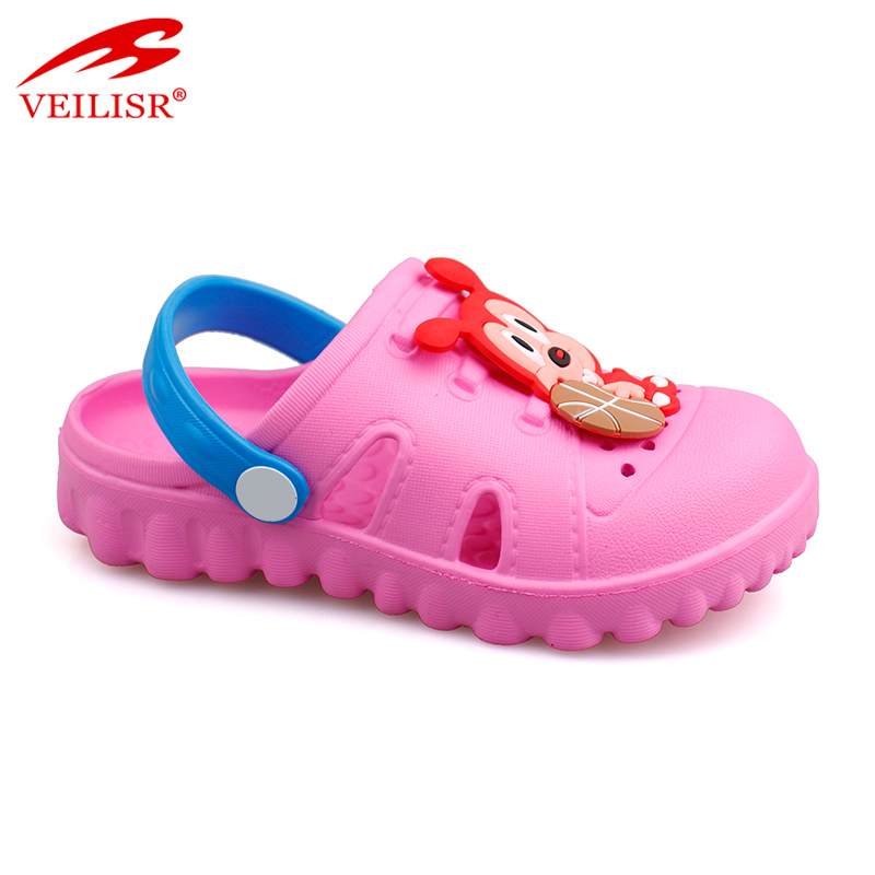 Cheap design animal patch sandals cartoon EVA kids clogs